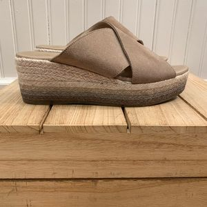 Paseart OMBRE wedge suede sandal
